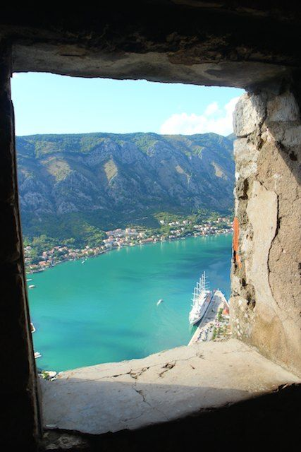 The view over the Bay of Kotor, MONTENEGRO , as seen from Kotor's city walls. Kotor has just been earmarked by Lonely Planet as the #1 City destination for 2016!