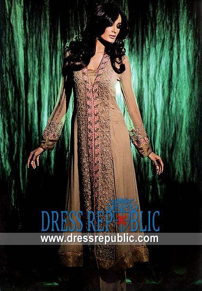 Tan Ventura, Product code: DR4561, by www.dressrepublic.com - Keywords: Shalwar Kameez Ventura, CA, Pakistani Indian Boutiques Ventura, Salwar Kameez Ventura, CA