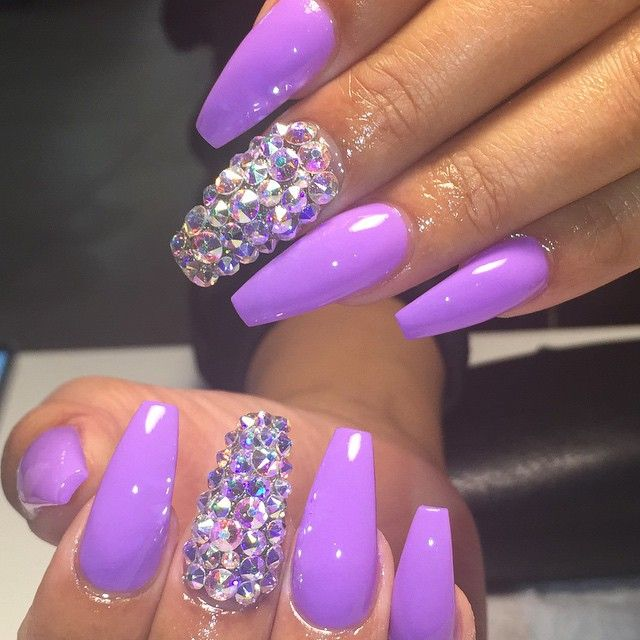 Acrylic Nails Designs Purple | www.pixshark.com - Images ...