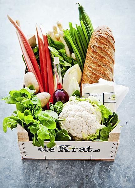 'De Krat'. Home Delivery of 100% organic, locally produced products in Holland