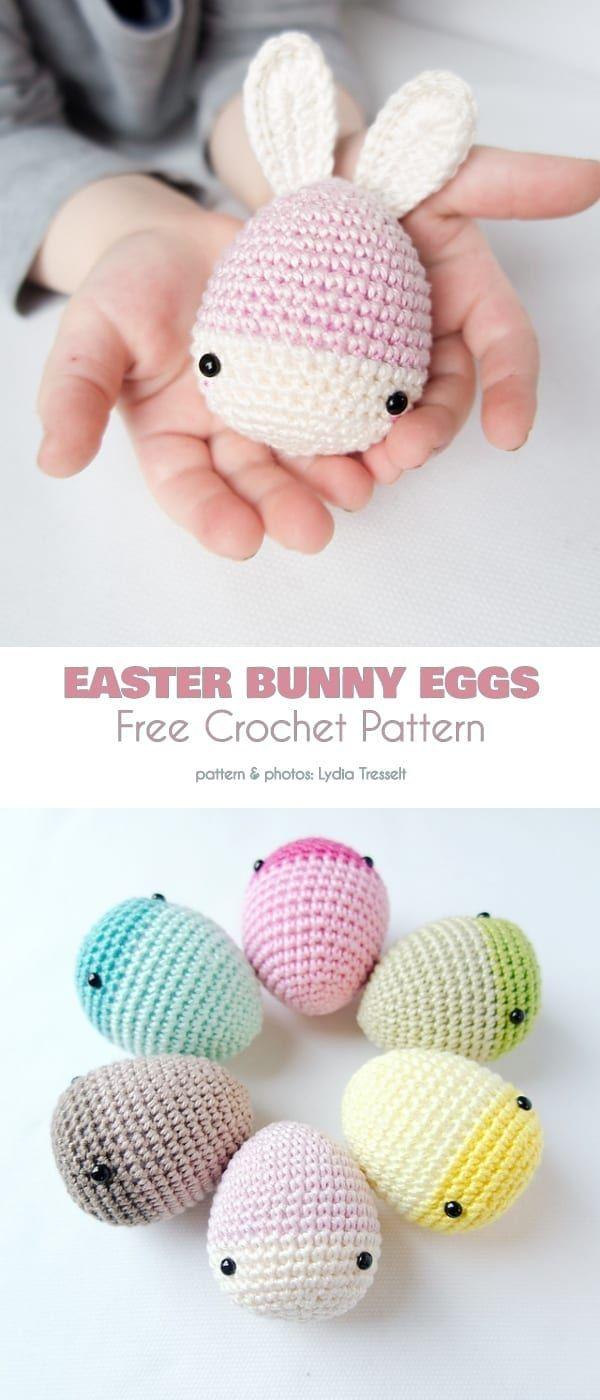Easter eggs - Free amigurumi pattern | 1400x600