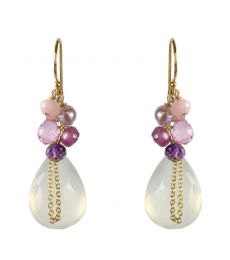 White Chalcedony Mix Earrings