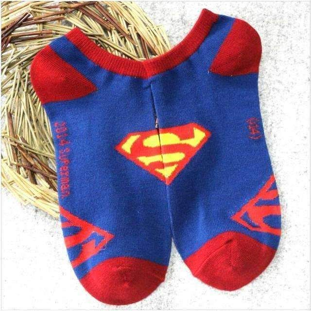 Superman Adult Ankle Logo Socks