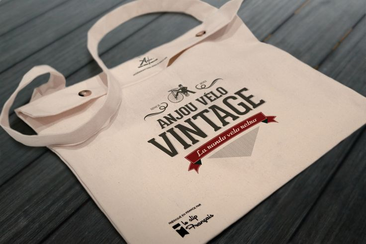 — Anjou Vélo Vintage — #sac #toile #anjou #velo #vintage #slipfrancais