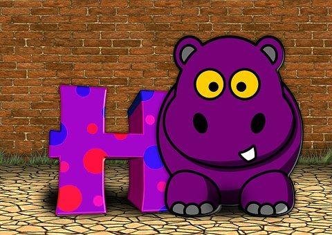 Letras, Abc, Educación, Hipopótamo