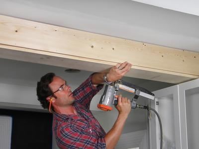 How To Wrap A Ceiling Girder With Wood Feathering My