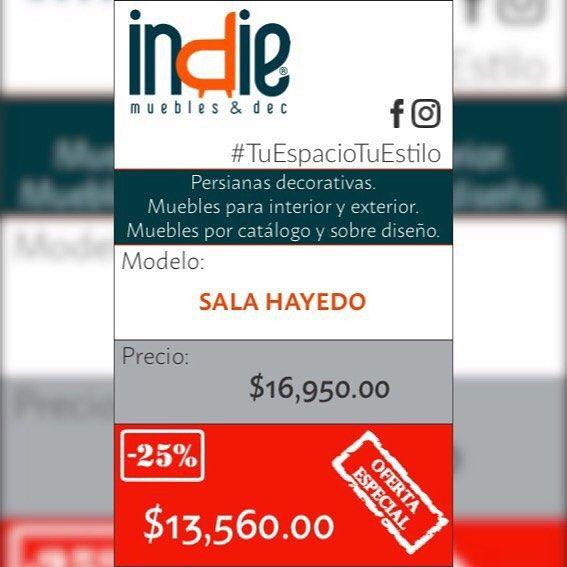 En Indie Muebles & Dec andamos con súper PROMOCIONES de verano ven y visita nuestro showroom y lo que te guste tiene el 25% de descuento y entrega inmediata. Flete gratis dentro de la ZM. de Cancún... APROVECHA!  #Promociones #Descuentos #EntregaInmediata #FleteGratuito #ConsumeLocal #IndieMueblesyDec #TuEspacioTuEstilo #Muebles #Persianas #Cancún #PlayaDelCarmen #RivieraMaya #Tulum #QuintanaRoo #México