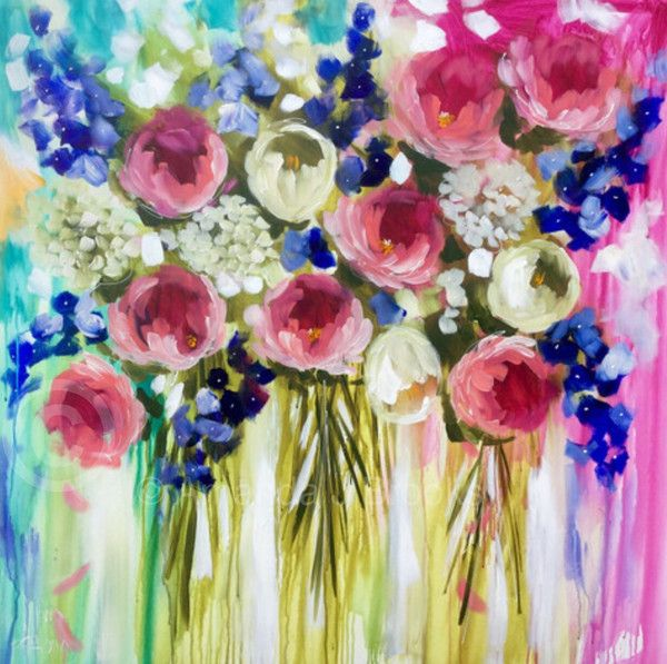 Best 700+ Flowers : bouquets and fields (paintings) images on ...