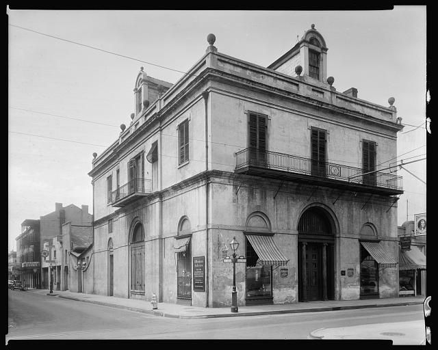 Louisiana State Bank, 401 Royal St. at Conti, New Orleans, Orleans Parish, Louisiana