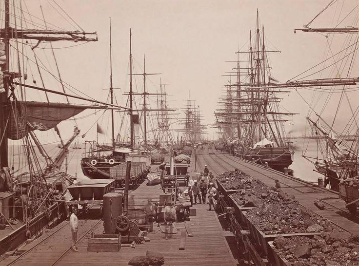 Railway Pier,Port Melbourne c1870.