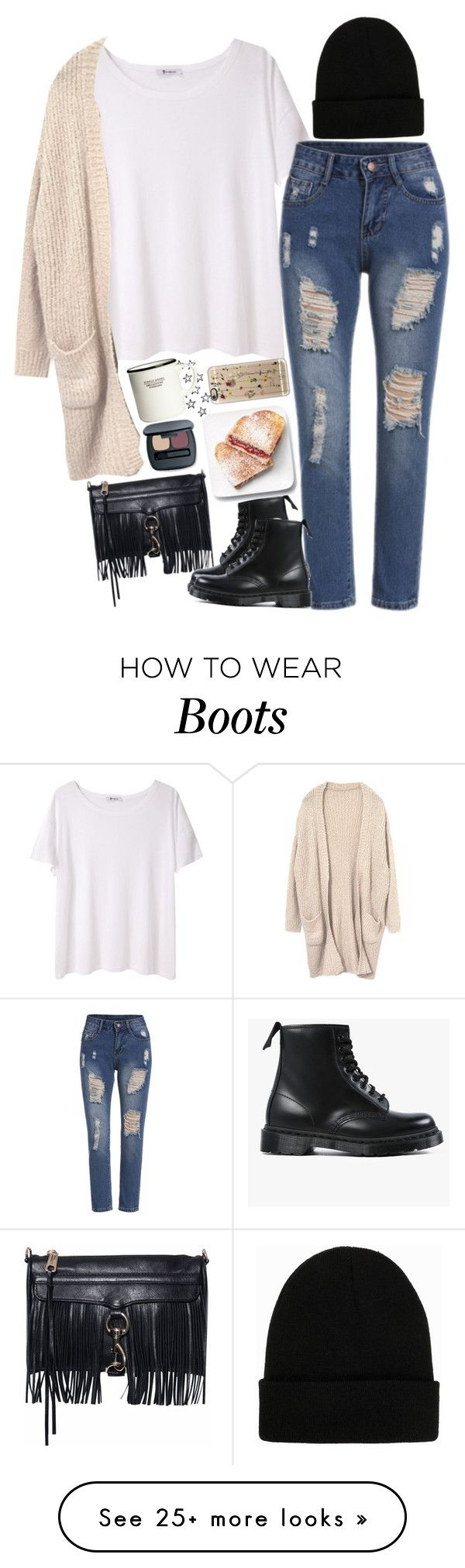 """""""Untitled #2401"""" by sisistyle on Polyvore featuring T By Alexander Wang, Rebecca Minkoff, Dr. Martens, NLY Accessories, Casetify and H&M"""