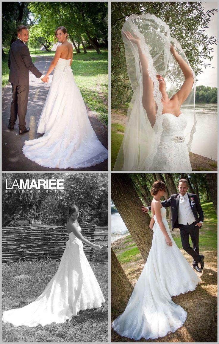 Basma esküvői ruha Pronovias Kollekció - Eszter menyasszonyunk http://mobile.lamariee.hu/eskuvoi-ruha/pronovias/basma