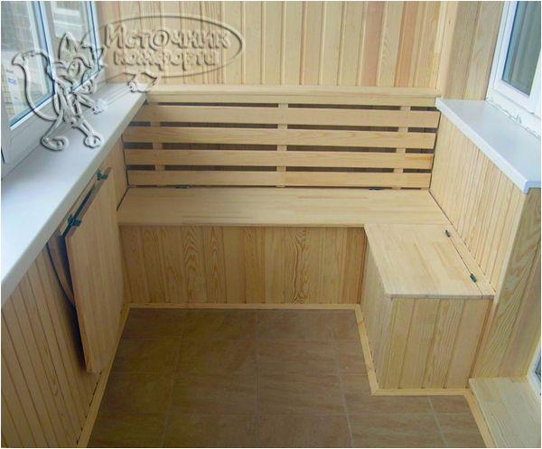 Мебель для балкона.<br /> Скамья. Откидной стол.