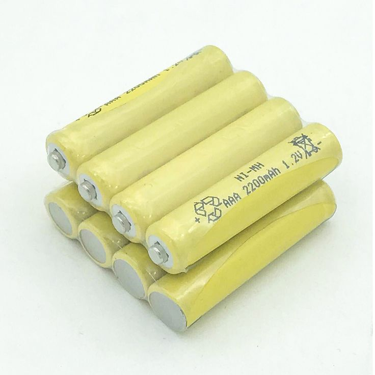 Yellow 8X2200mAh Ni-MH AAA Battery NI-MH 1.2V Neutral AAA rechargeable battery batteries Free shipping #Affiliate