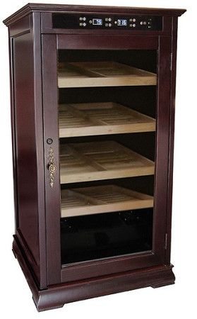 The Redford Electronic Cabinet Cigar Humidor - HumidorDeal.com