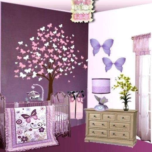 Lavender Nursery Decor Baby Erfly