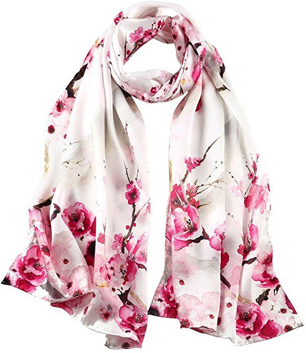 Story Of Shanghai Women S 100 Silk Scarf Luxury Satin Graphic Painted Shawl Wraps Dy08 White One Size At Amazon Women Silk Scarf Style Scarf Styles Fashion
