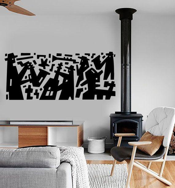 Wall Decal Music Jazz Band Modern Art Vinyl Sticker By BoldArtsy