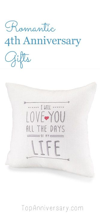 Romantic 4th Anniversary gifts that they will love and treasure