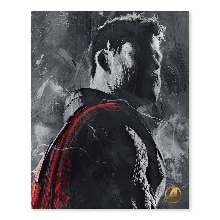 "Artissimo Designs Marvel Avengers Thor Canvas Wall Art, 16″""X20″"""