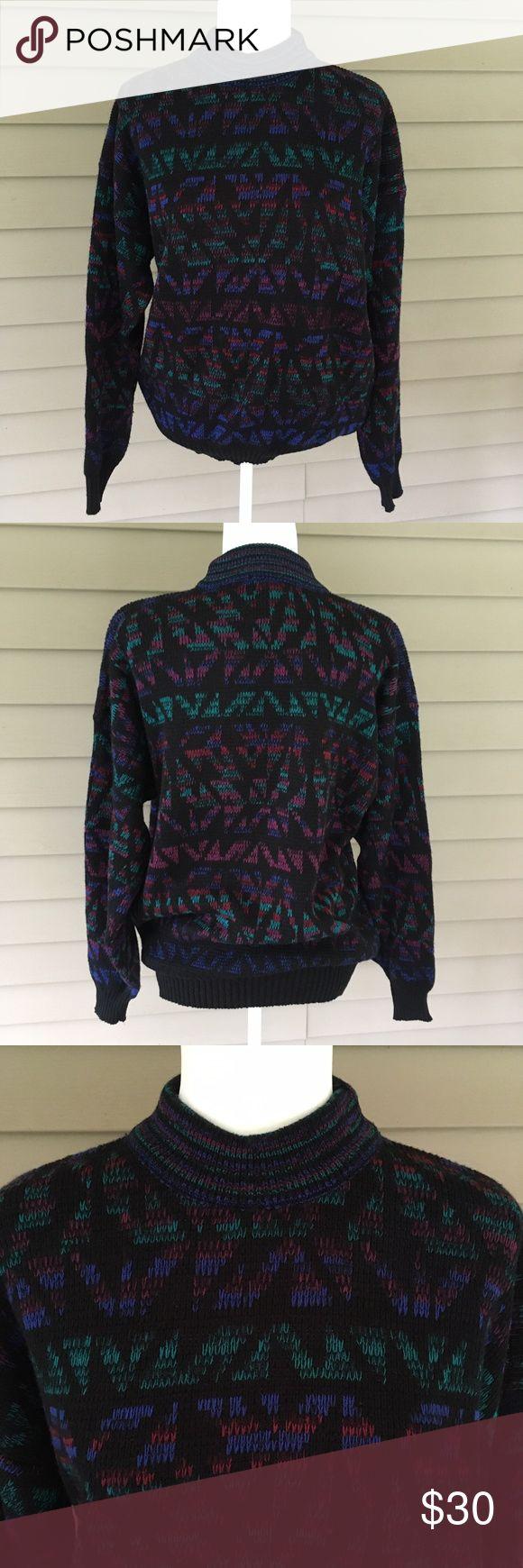 Vintage Botany 500 Mock Neck Knit Ski Sweater Good pre-owned vintage condition -…