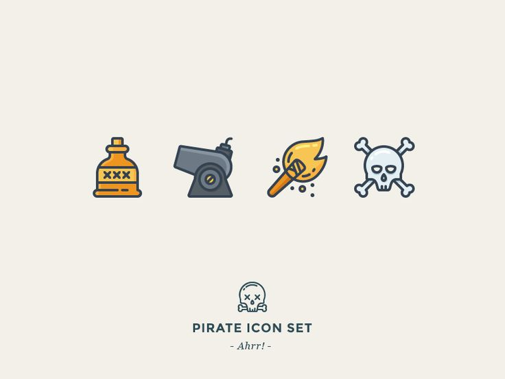 Working on my free pirate icon set. Ahrrr!   P.S. And don't forget! Icon Utopia is launching in one week, on August 25th!   Subscribe to get best articles on icon design!  Worth checking out:  Icon...