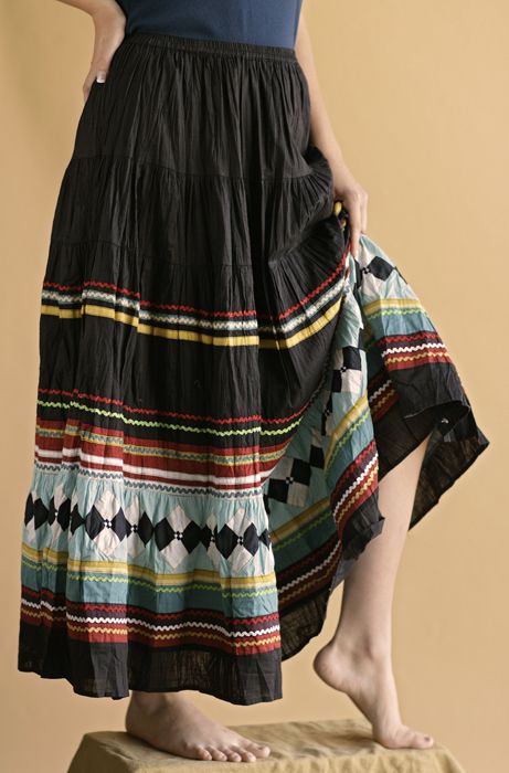 Double D Ranchwear Seminole Skirt in Black from Smith and Western