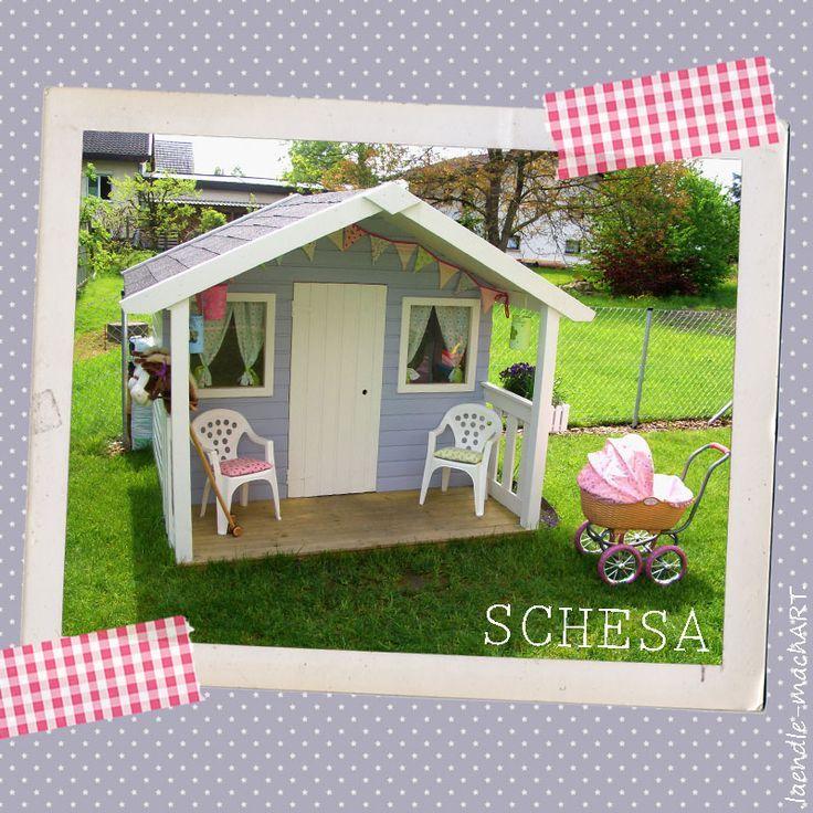Gartenhaus, Kinderspielhaus, Spielhaus, DIY, selber machen