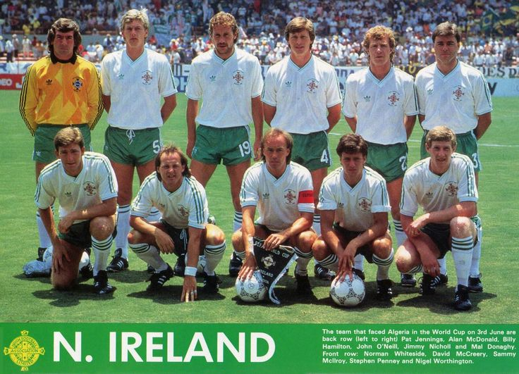 Northern Ireland team group at the 1986 World Cup Finals.
