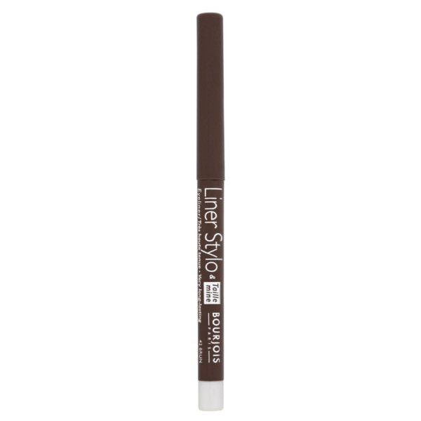 Bourjois Liner Stylo - Brown (34 BRL) ❤ liked on Polyvore featuring beauty products, makeup, eye makeup, eyeliner, long wear eyeliner, long wearing eyeliner, bourjois eyeliner, bourjois and pencil eyeliner