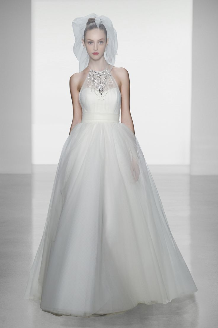 "Amsale ""Whitney""Wedding Dressses, Bridal Collection, Ball Gowns, Wedding Style, Bridal Gowns, Fall 2014, Amsale 2014, Amsale Whitney, Halter Wedding Dresses"