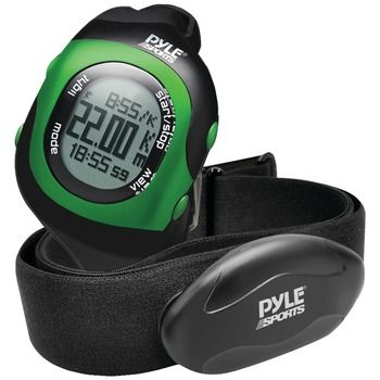 Pyle-sports Bluetooth Fitness Heart Rate Monitoring Watch With Wireless Data Transmission & Sensor (green)