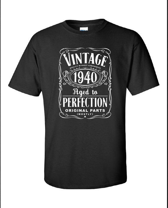 75th Birthday Gift For Men and Women  Vintage by SHIRTSnGIGGLES, $16.99