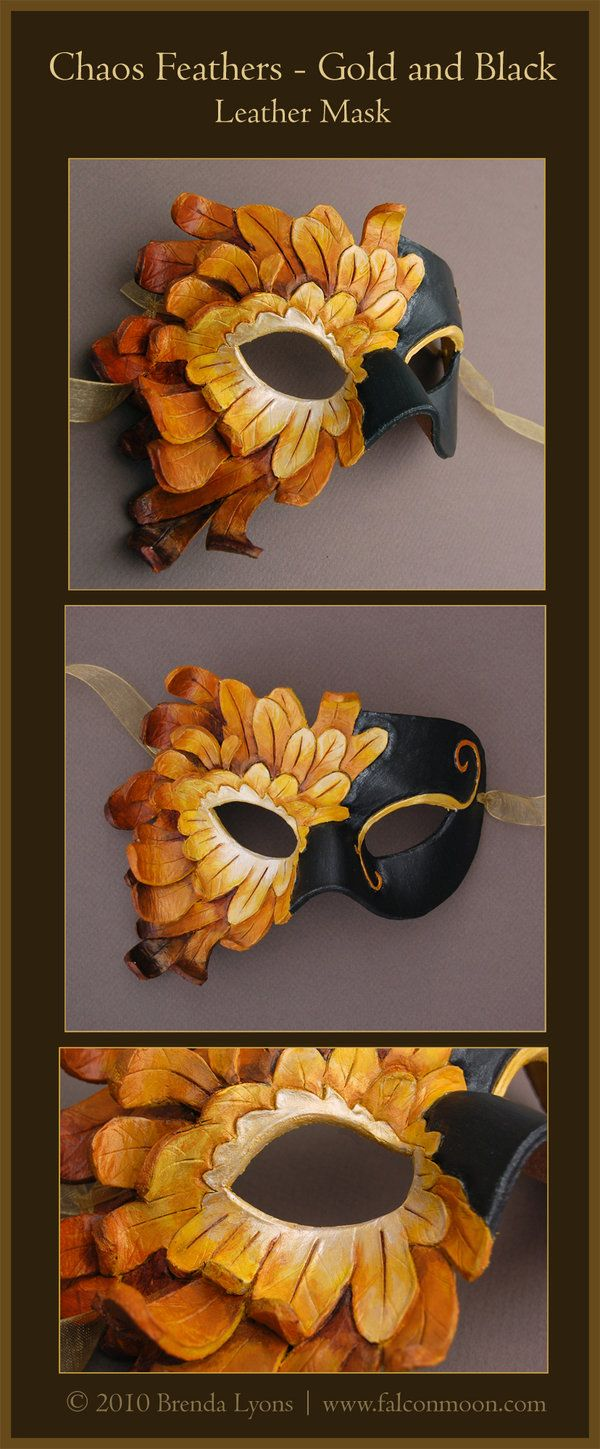 Chaos Feathers 3- Leather Mask by windfalcon.deviantart.com on @DeviantArt