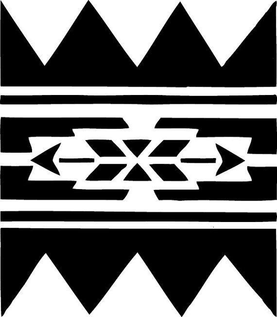 Stencil native american wall border no 223 by for Native design