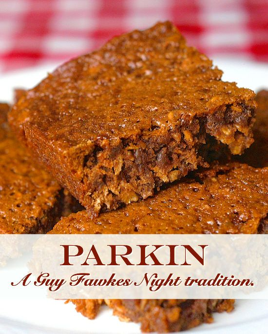 Parkin is a traditional English sticky oat & spice cake that's enjoyed on Guy Fawkes Night; think gingerbread meets oat cake meets sticky toffee pudding.