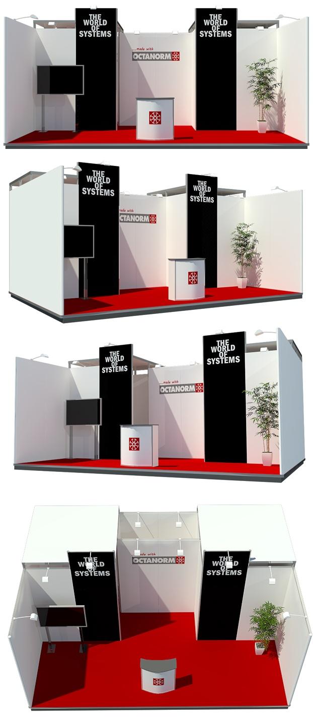 Design de stands d'exposition (illustration 3D et fourniture de matériel)