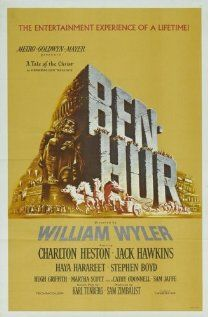 Ben-Hur (1959) Stars:  Charlton Heston, Jack Hawkins and Stephen Boyd. Won 11 Oscars.  Storyline: When a Jewish prince is betrayed and sent into slavery by a Roman friend, he regains his freedom and comes back for revenge.     Source: http://www.imdb.com/title/tt0052618/