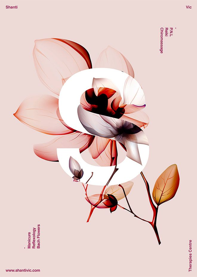 40 Floral Typography Designs that Combine Flowers & Text
