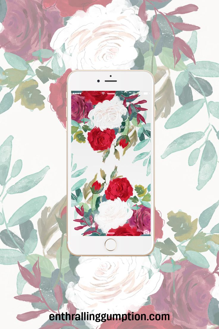 Jazz up your phone screen for spring with this free floral wallpaper