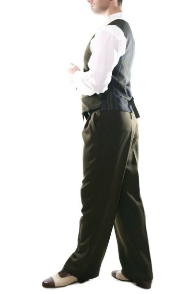 Men's Olive Green Tango Pants | conSignore Tango Clothes for Men   #tangopants #menstangopants #menstangoclothes #argentinetango