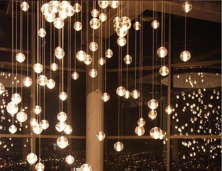 Pendant Lamp 1 Head Bocci Led Crystal Glass Ball Meteor Rain Ceiling Light Meteoric Shower Stair Light Droplight Chandelier Lights Pendant