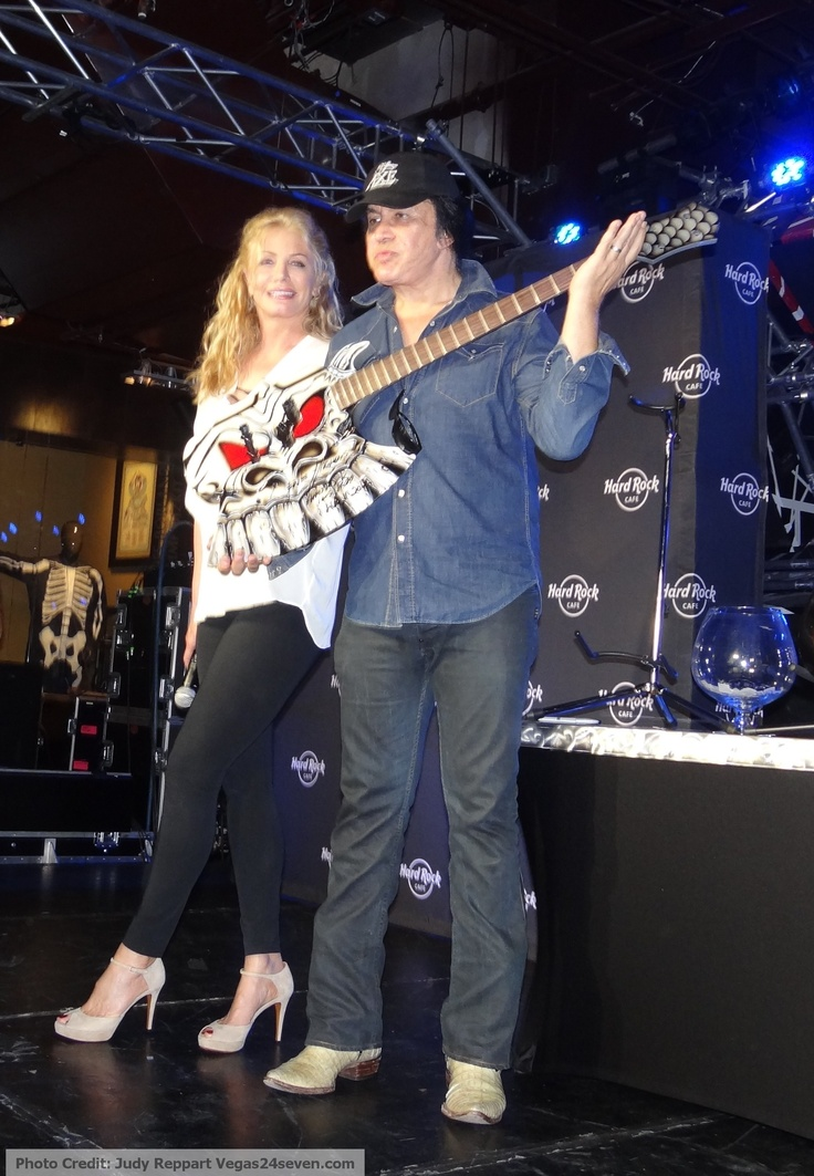 Photos we took at the Hard Rock Cafes in Las Vegas Celebrates Gene Simmons and Shannon Tweed