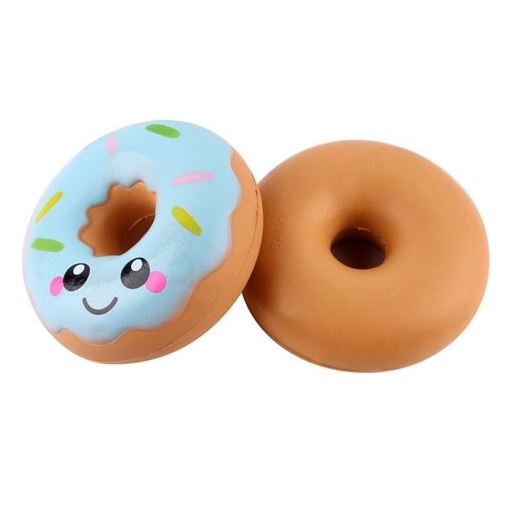 Squishy Kawaii Donut Pink Or Blue