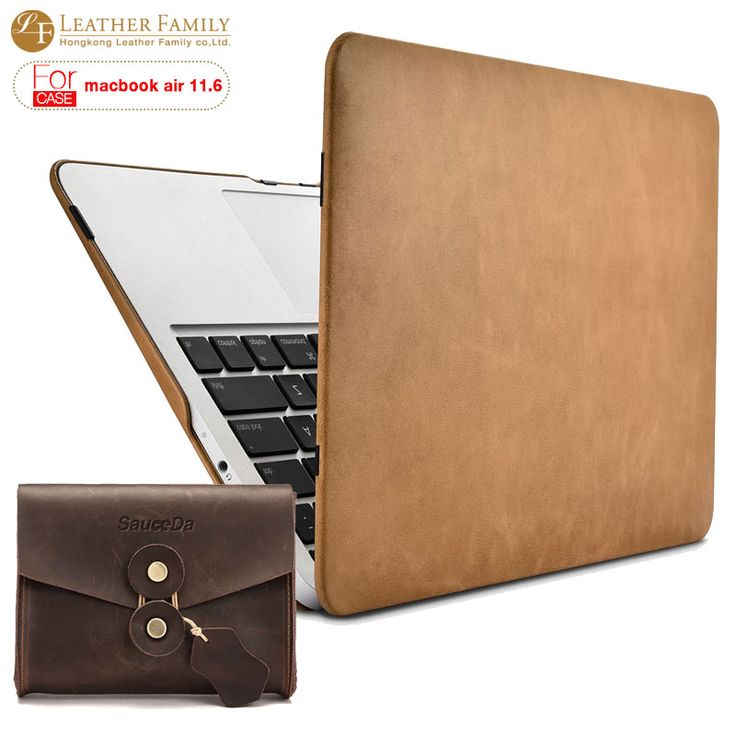 For macbook air 11 inch Ultra slim genuine cowhide leather Protective Folio Case for macbook 11.6 laptop Sleeve with mouse pouch #Affiliate