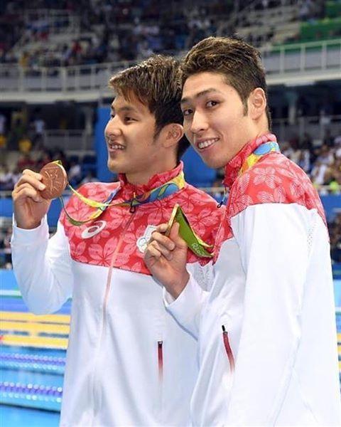 リオオリンピック 日本第1号 金メダル 400メートル個人メドレー  金メダル  荻野公介 銅メダル  瀬戸大地  #rio2016 #オリンピック  #競泳…
