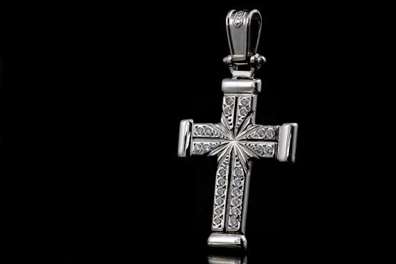 Handmade Cross 925 Sterling Silver with Cubic by ZografosCrosses, €29.00