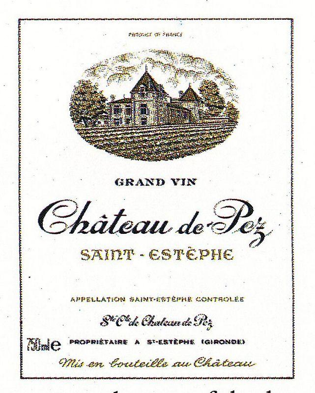 Chateau de Pez French Wine Label