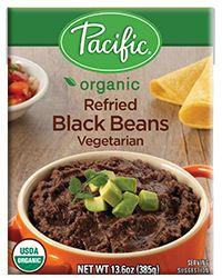 Organic Refried Black Beans Vegetarian Pacific Foods