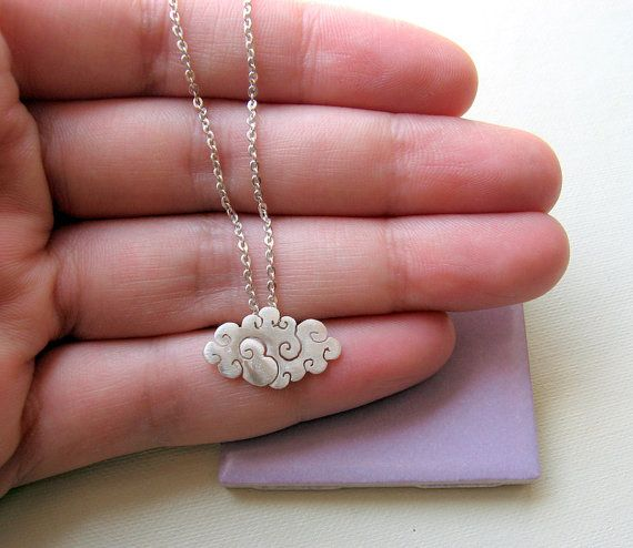Silver lining in the cloud..: Silver Jewelry Necklaces, Silver Clouds, Clothing, Necklaces Small, Fashion Necklaces, Accessories, Sterling Silver Necklaces, Clouds Jewelry, Clouds Necklaces